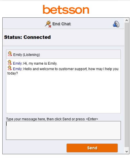 Betsson review: customer support
