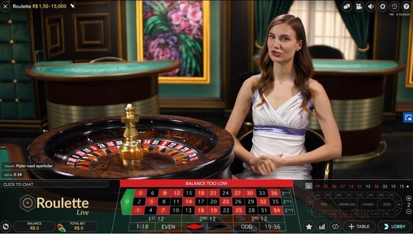 Live roulette for free